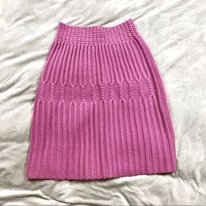 NWT Anthropologie Knit Stretch Skirt in mauve pink